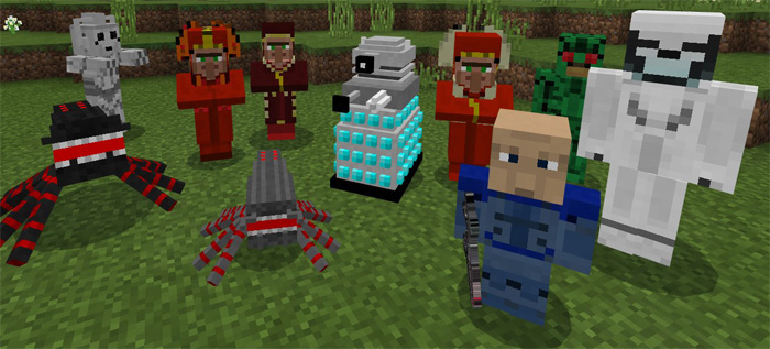 Doctor Who Mobs Pack Addon Minecraft Pe Mods Addons
