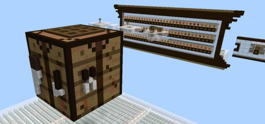 Giant Working Crafting Table [Redstone] (1.2 Beta Only)