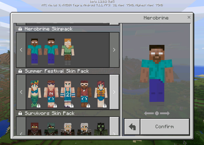 Herobrine Skin Pack 12 Beta Only Minecraft Skin Packs