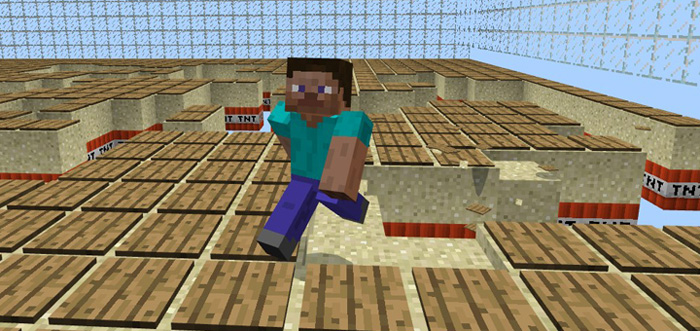 TNT Run Minigame Minecraft PE Maps - Minecraft spiele mit tnt