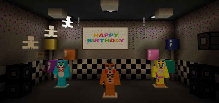 ... Five Nights At Freddy's 2 Re-Creation MCPE Map apk screenshot ...