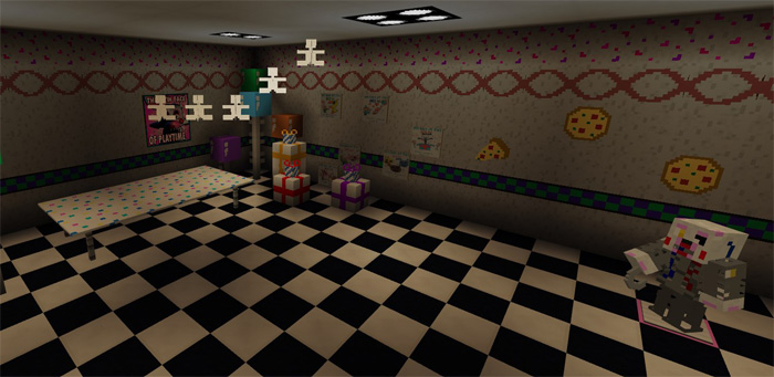 Five Nights At Freddy's 2 Re-Creation [Creation]   Minecraft PE Maps
