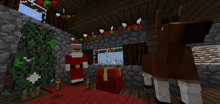 Christmas Minecraft Santa.Christmas Addon Minecraft Pe Mods Addons