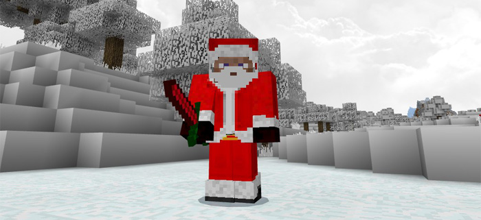 Christmas Minecraft Santa.Santa Boss Addon Minecraft Pe Mods Addons