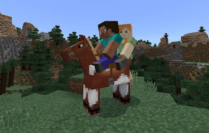 2 Player Horse Riding Addon | Minecraft PE Mods & Addons