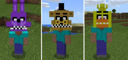 Minecraft pe mods maps skins seeds texture packs mcpe dl page 4 fnaf heads pack sciox Image collections