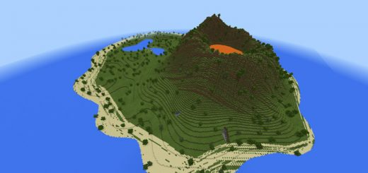 Custom terrain maps mcpe dl volcano island custom terrain gumiabroncs Images