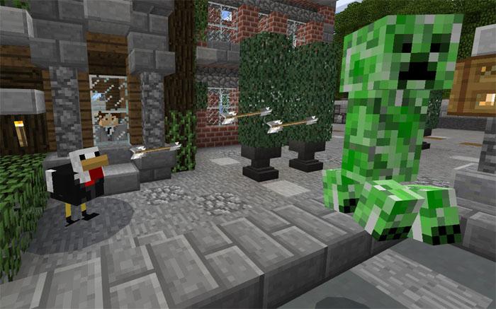 Аддон Chicken Bodyguard для Minecraft PE
