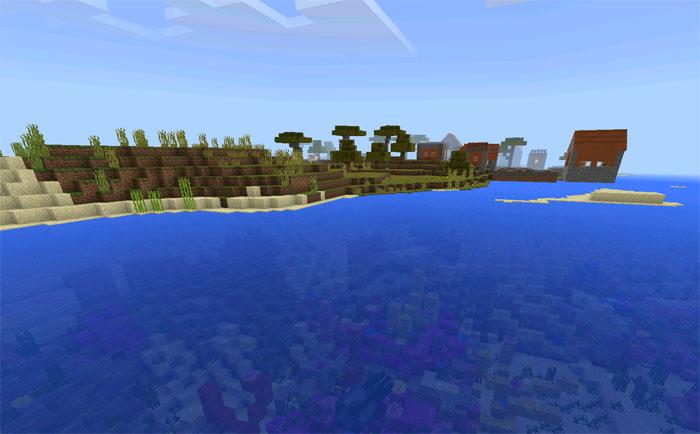 1848996952: Coral Reef, Shipwreck & Buried Treasure Seed