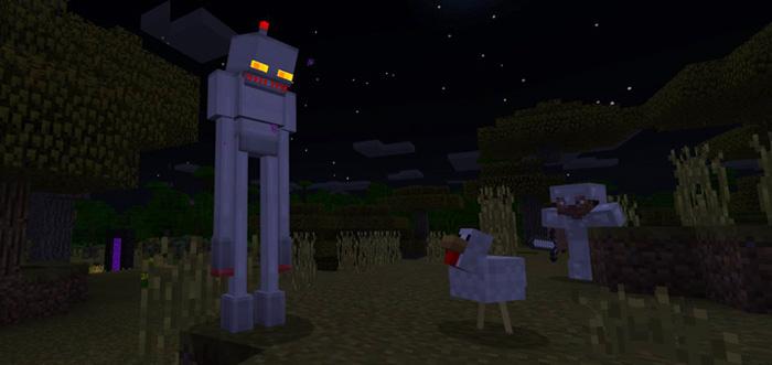 Enderman Robot Add On Minecraft Pe Mods Addons