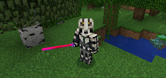 Аддон Throwable Lightsaber для Minecraft PE