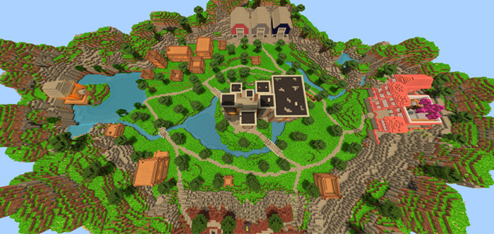 H MC Fortnite Minigame Minecraft PE Maps - Mapas survival para minecraft 1 11 2