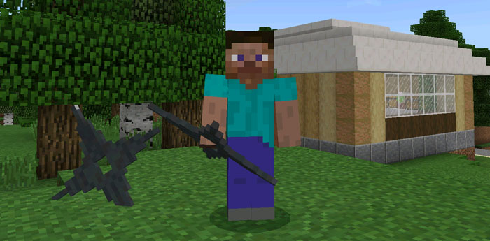 3D Weapons Pack Addon (Beta Only) | Minecraft PE Texture Packs