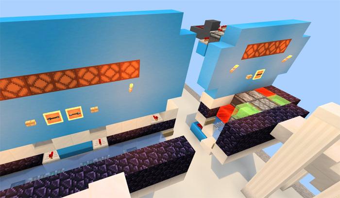 2 Way Flying Machine – Multistop [Redstone] | Minecraft PE Maps