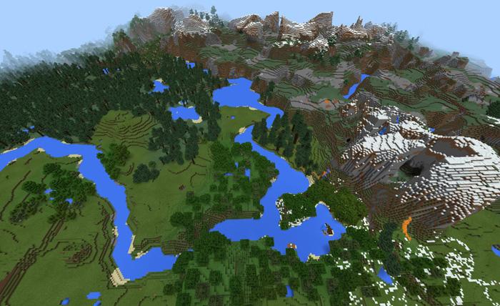 Карта Nature Border для Minecraft PE