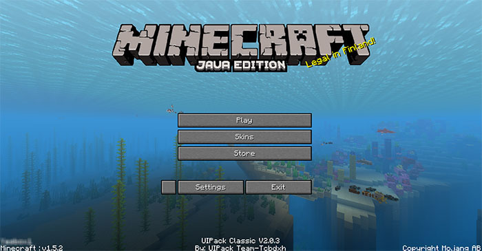 UIPack Classic Resource Pack | Minecraft PE Texture Packs