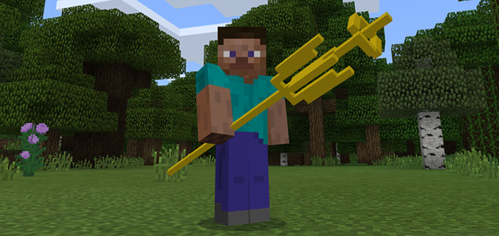 how do you get a trident in minecraft