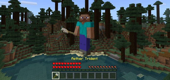 how to get the trident in minecraft