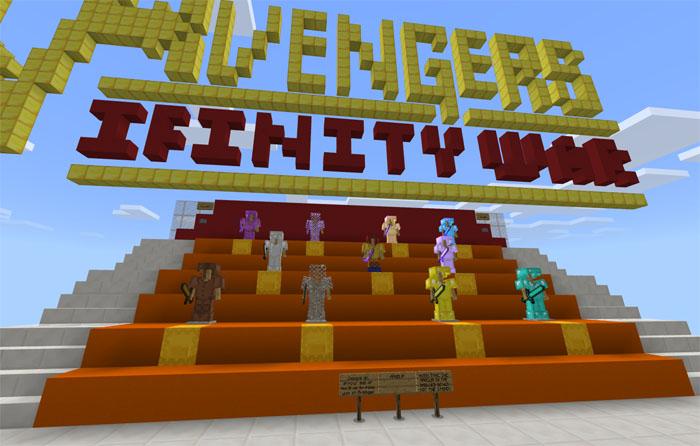 Avengers: Infinity War Special (Burn It) [Minigame] | Minecraft PE Maps