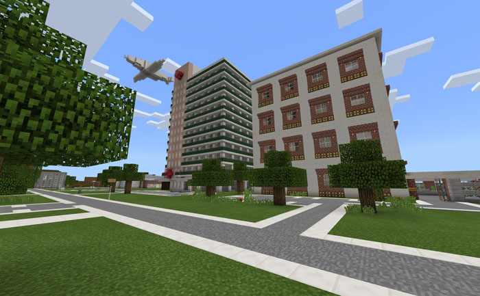 minecraft city map with pet shop