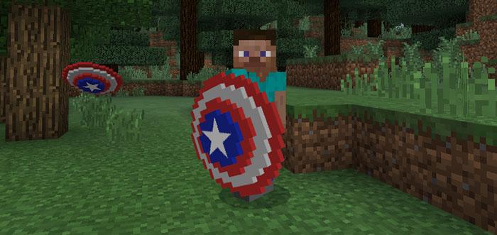 Captain America's Shield Addon | Minecraft PE Mods & Addons