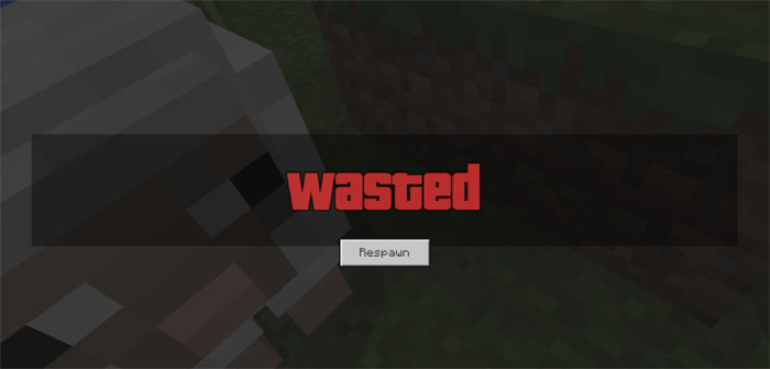 GTA Wasted Screen Resource Pack | Minecraft PE Texture Packs