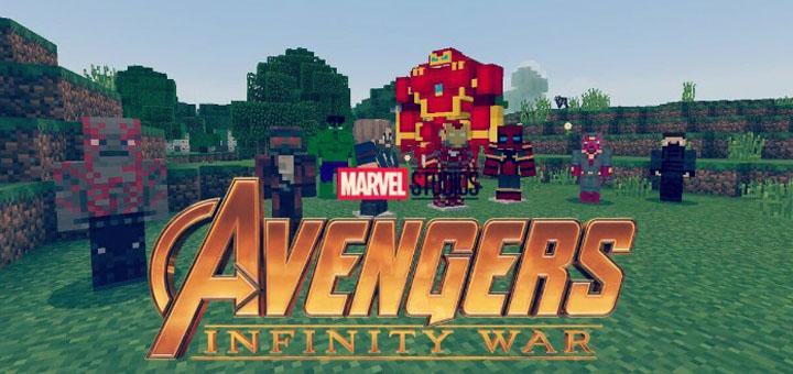 Avengers Infinity War Addon Minecraft PE Mods Addons - Skins para minecraft pe guerra
