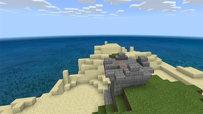 1313909920: Sea Ruins On Land Seed | Minecraft PE Seeds