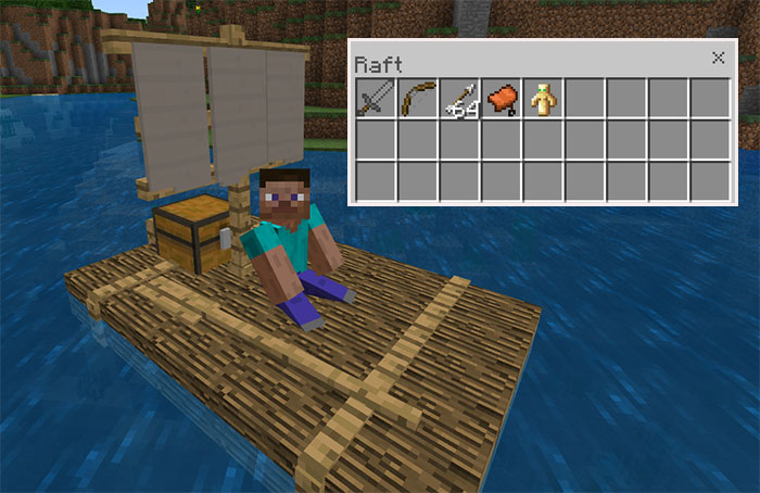 Chested Sail Raft Addon | Minecraft PE Mods & Addons