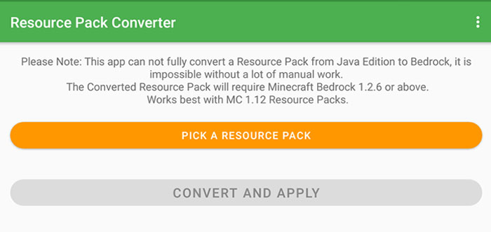 Resource Pack Converter (Android Tool)   Minecraft PE Mods