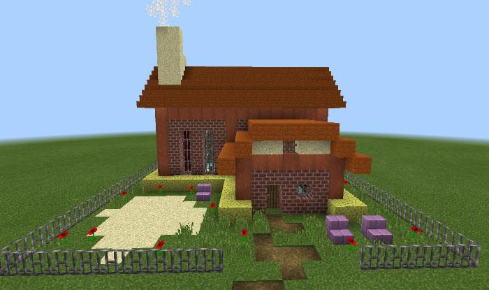 Customizable Command Block House Redstone Minecraft PE Maps - Minecraft hauser comand