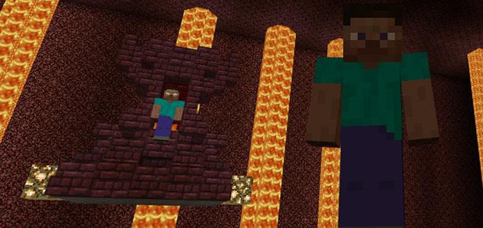 Herobrines Chamber Minigame Minecraft PE Maps - Minecraft herobrine spiele