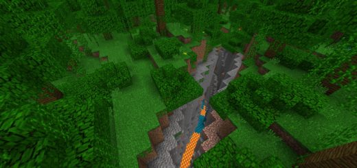 FlatEarth: Jungle Ravine At Spawn Seed
