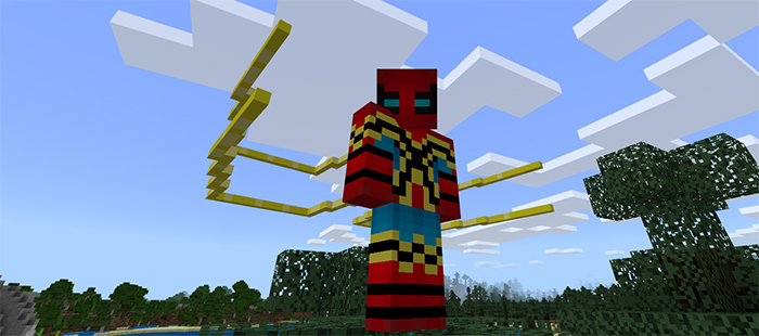 how to make spiderman suit in minecraft pe