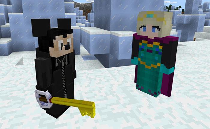 Kingdom Hearts Iii Frozen Addon Minecraft Pe Mods Addons