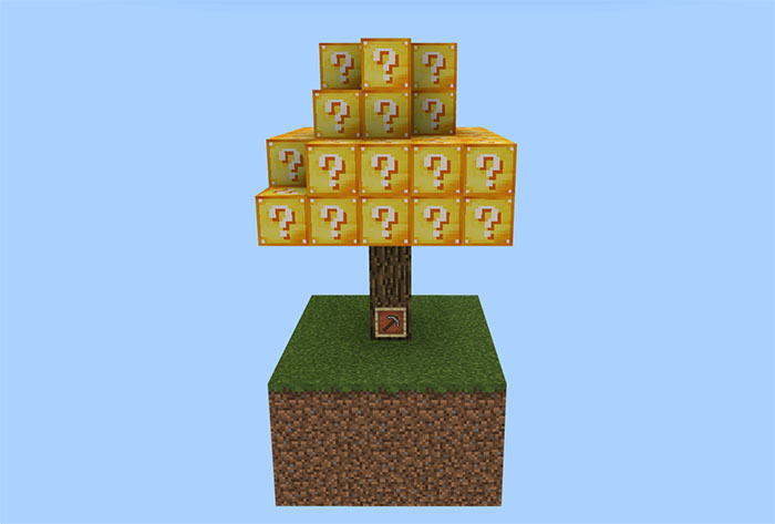 LuckyTree SkyBlock [Survival] | Minecraft PE Maps