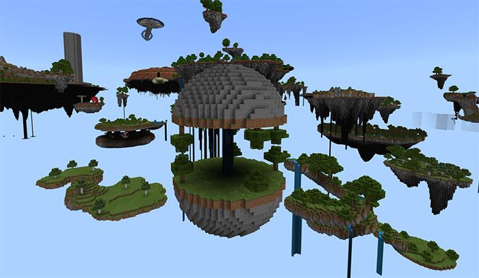 SkyWorld PE [Survival] [Custom Terrain] | Minecraft PE Maps