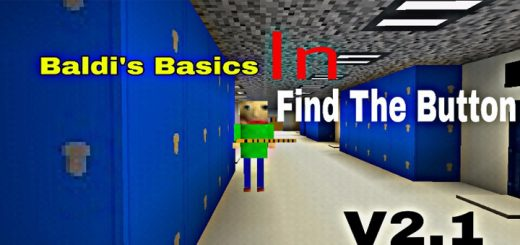 Baldi's Basics in Find The Button (Horror) [Minigame]