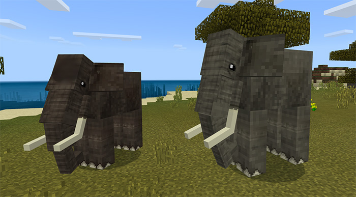 Elephants and Mammoths Add-on (1 8+ Only) | Minecraft PE
