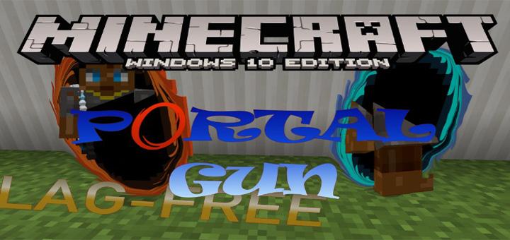 Portal Gun Addon/Command (Redstone) Addon | Minecraft PE