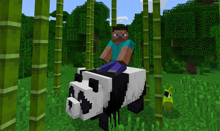 tameable pandas addon minecraft pe mods addons