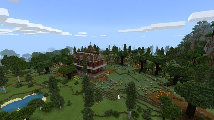 The Wandering Woods [Custom Terrain] | Minecraft PE Maps