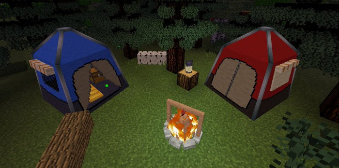 how to make a campfire in minecraft in creative