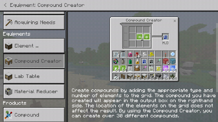 Chemistry Guide Resource Pack Minecraft Pe Texture Packs