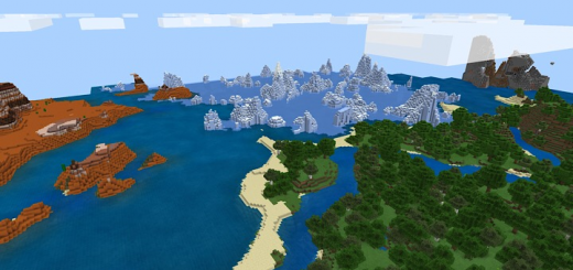 The 4 Biomes At Spawn Seed