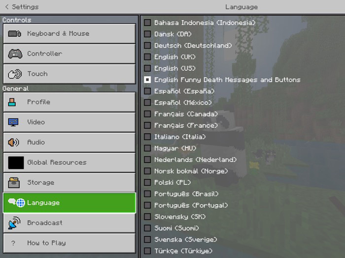 Funny Death Messages And Buttons Resource Pack | Minecraft