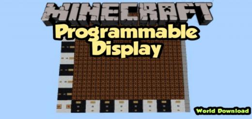 Programmable Display in Minecraft Bedrock Edition