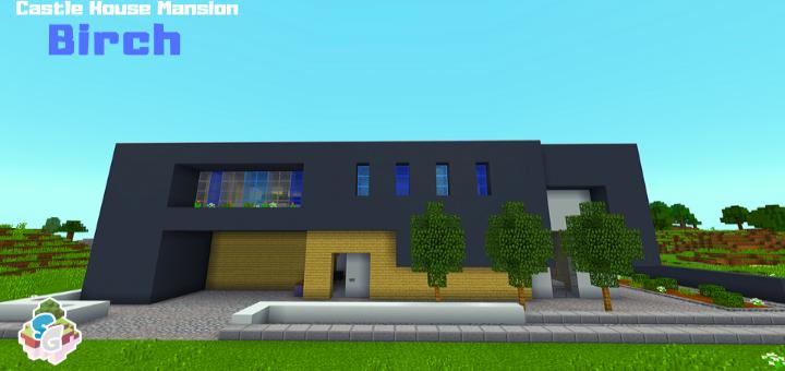 Sg Birch Castle House Mansion Minecraft Pe Maps