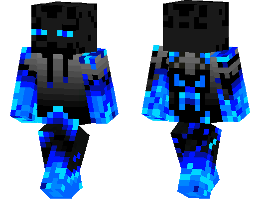 Blue Enderman Minecraft Pe Skins