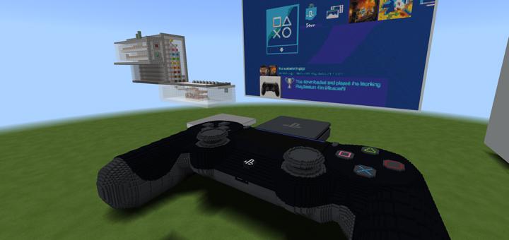 Working PlayStation 4 [Redstone] | Minecraft PE Maps